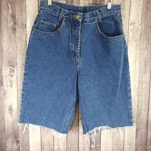 Nasty Gal Collection Vintage Denim Knee Shorts